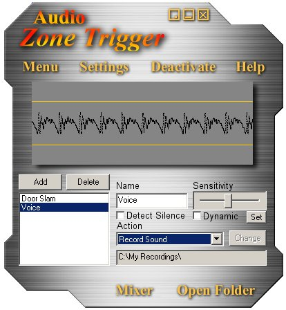 Click to view Audio Zone Trigger 1.6 screenshot